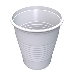 5 oz Flat Bottom Plastic Cup - White (100/Tube)