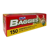Baggies with Twist Tie (150/Box)
