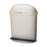 Rubbermaid Rolltop Step-On Container (Beige)