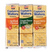 Captain's Wafers Sandwich Crackers Variety Pack (8/Box)
