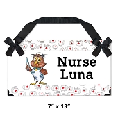 SNS Personalized Nurse Sign - Large (Typewriter Font)