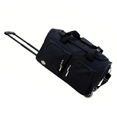 Accent Handle Rolling Duffel