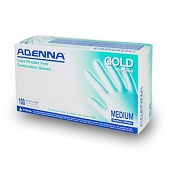 Adenna Latex Powder Free Gloves - Large (100/Box)