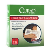 CURAD Reusable Hot/Cold Gel Pack with Cover - 4