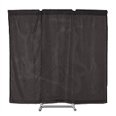 Port-A-Wall Portable Room Divider - Black