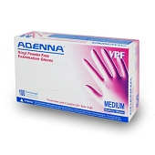 Adenna Vinyl Powder Free Gloves - Medium (100/Box)