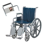 Everest & Jennings Traveler SE Removable Arm Wheelchair with Elevating Leg Rest (24