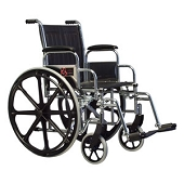 School Nurse Supply Wheelchair with Foot Rest (18