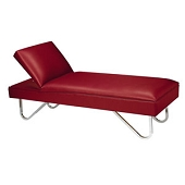 Adjustable Headrest Couch - Chrome-Plated Steel Legs (X-Large)