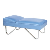 Pediatric Fixed Headrest Couch - Chrome-Plated Steel Legs