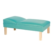 Pediatric Fixed Headrest Couch - Hardwood Tapered Legs
