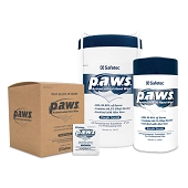 Safetec p.a.w.s. Personal Antimicrobial Hand Wipes (160/Tub)