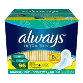Always Ultra Thin Regular Flexi-Wings (96/Pkg)