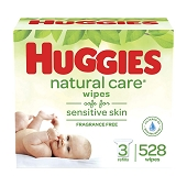 Huggies Natural Care Baby Wipes (552/Case)
