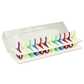 Infant Toothbrushes and Rack - Rack with 12 Brushes