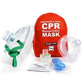 CPR Resuscitator Mask - Adult, Child & Infant (Soft Case)