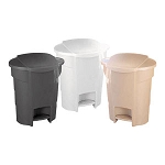 Step-On Plastic Waste Can - Black