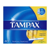 Tampax Regular Tampons (40/Box)