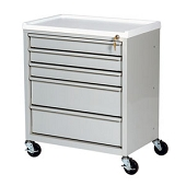 Lockable Treatment Cart - 5 Drawer