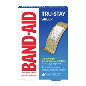 J & J BAND-AID Brand TRU-STAY Sheer Bandages (40/Box)