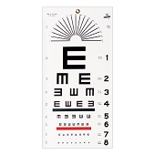 Wall Mount Eye Test Chart - Illiterate Tumbling E