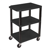 3-Shelf Utility Carts - Black