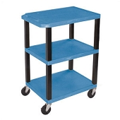 3-Shelf Utility Carts - Blue