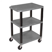 3-Shelf Utility Carts - Gray
