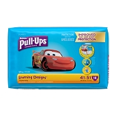 Huggies Pull-Ups - Size 4T–5T/38–50 lbs (Boys) **CASE of 4 PKGS**