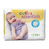 Cuties Diapers - Size 2, 12-18 lbs (42-ct)