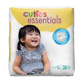 Cuties Diapers - Size 4, 22-37 lbs (31-ct)