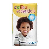 Cuties Diapers - Size 7, 41+ lbs (20-ct)