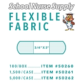SNS Flexible Fabric Adhesive Bandages - 3/4
