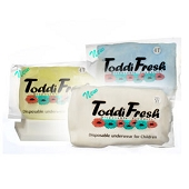 ToddiFresh Disposable Underwear for Children - Size 2T/3T (12/Pkg)