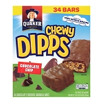 Chewy Dipps Chocolate Chip Granola Bars (34/Box)