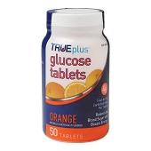 GoodSense Glucose Tablets - Orange (50/Bottle)
