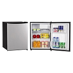 Magic Chef 2.4 Cubic Foot Refrigerator (Stainless Steel Look Door)