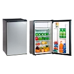 Magic Chef 3.5 Cubic Foot Refrigerator/Freezer (Stainless Steel Look Door)