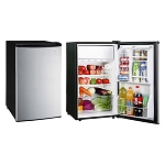 Magic Chef 4.4 Cubic Foot Refrigerator/Freezer (Stainless Steel Look Door)