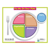 Put Me On Your Plate:  Write On, Wipe Off!  Activity & Menu Poster