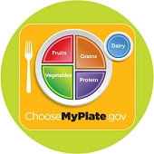MyPlate Stickers (500/Roll)