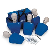 CPR Prompt Training Manikins - 5 Pack (Adult/Child with Carrying Case)