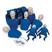 CPR Prompt Training Manikins - 7 Pack (5 Adult/Child and 2 Infant with Carrying Case)