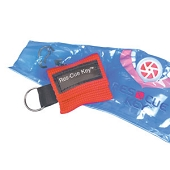 Ambu Res-Cue Key - Key Chain with Woven Pack (Red)