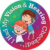 I Had My Vision & Hearing Checked Stickers (120/Pkg)