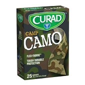 CURAD Children's Flex-Fabric Bandages - Green Camo (25-ct)
