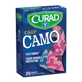 CURAD Children's Flex-Fabric Bandages - Pink & Blue Camo (25-ct)
