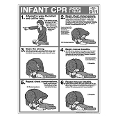 CPR Chart:  Infant B&W Tearpad (50-ct)