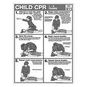 CPR Chart:  Child (50/Pad)