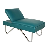 Pediatric Adjustable Headrest Couch - Chrome-Plated Steel Legs